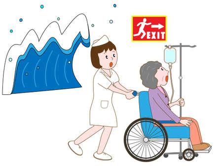pflegeversicherung: Hospitalisierten Patienten durch den Tsunami verschoben