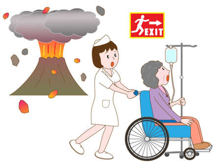 eruption: Hospital patients evacuated by the eruption