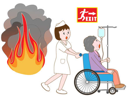 medical bills: Hospital patients evacuated by the fire