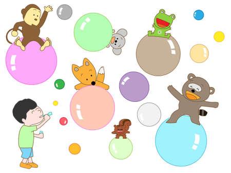 pom pom: Bubble wand