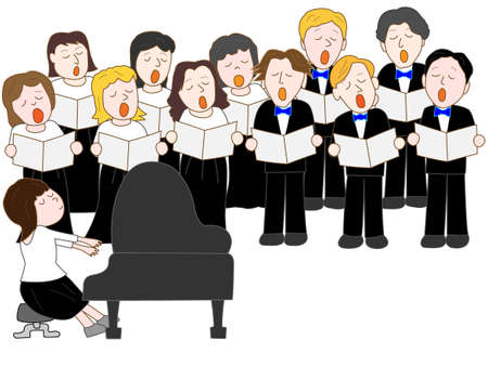 chorus Concert Stock Illustratie