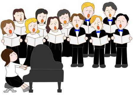 Chorus Concert Illustration