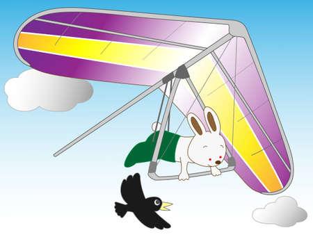 hang gliding: Hang gliding in rabbits