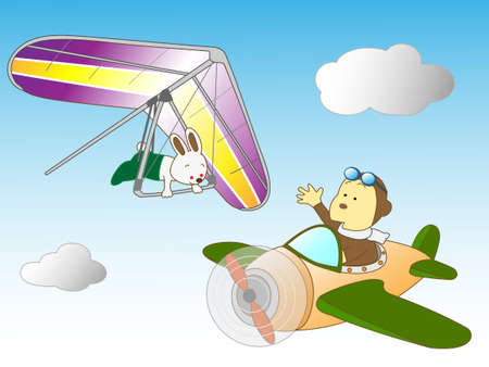 hang gliding: Animals for air travel