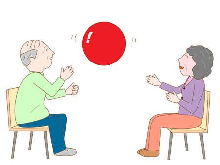 高齢者のための練習  イラスト・ベクター素材