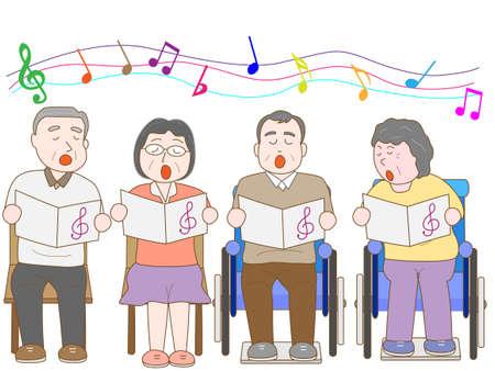 Chorus of the elderly