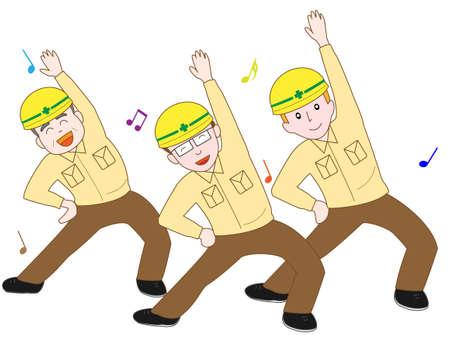 Workers gymnastics