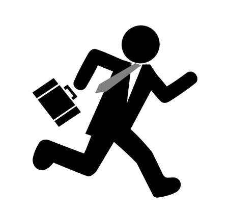 runner up: Businessman running silhouette icon Illustration