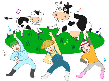 Dairy farmers to exercise Çizim