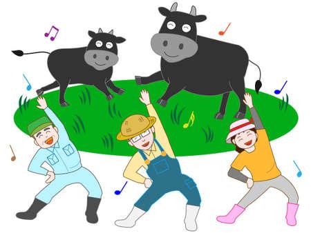 livestock: Livestock farmers to exercise Illustration