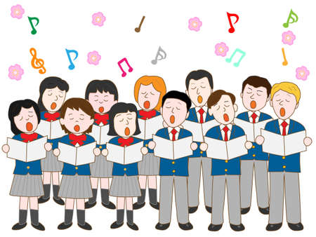 graduation ceremony: Chorus of the graduation ceremony