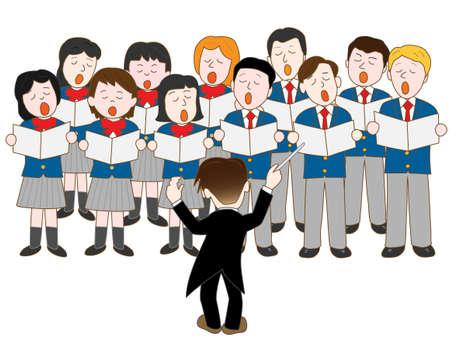 Student Concert Chorus Standard-Bild - 50992328