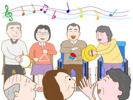 nursing care are for seniors: Music Festival at the nursing home