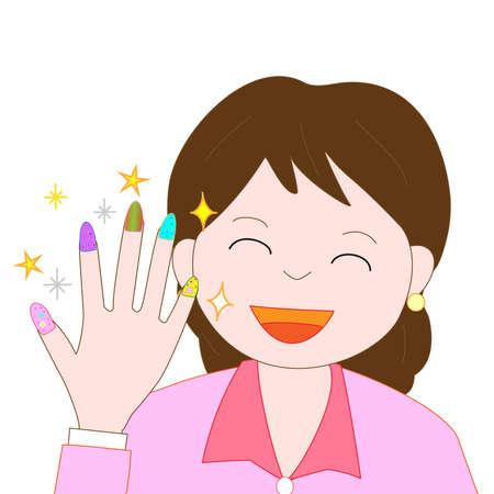 爪に身を包んだ女性  イラスト・ベクター素材
