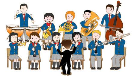 2 580 school band stock vector illustration and royalty free school rh 123rf com Band Director Clip Art Band Instruments Clip Art
