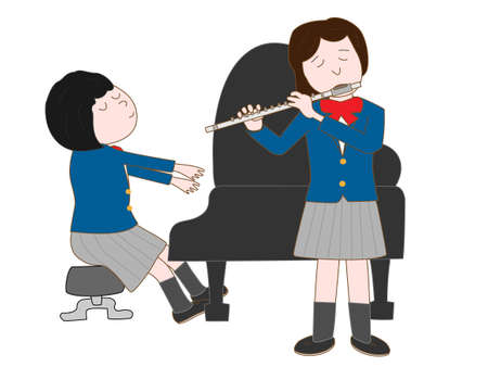 symphonic: Duo for flute and piano by female high school students