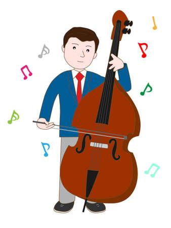symphonic: Double-bass playing high school
