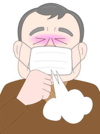 elderly coughing