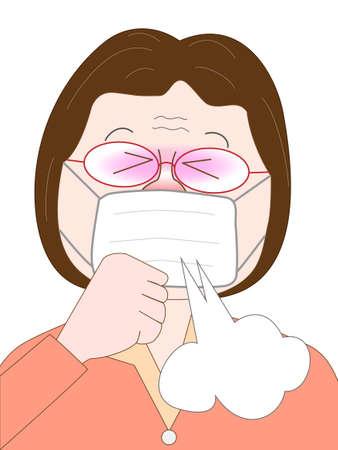 cough: tos ancianos Vectores