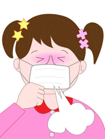 tosa: tos de los ni�os