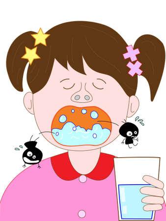 women's issues: Children gargle Illustration