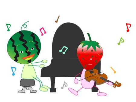 duo: Concert of vegetables