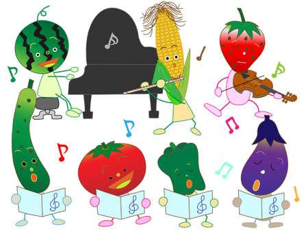 fairyland: Concert of vegetables