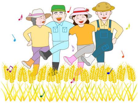 豊作の喜び