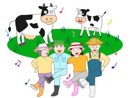 paddock: Bright dairy