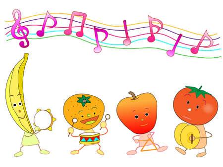 fruitful: Concert of the fruit Illustration