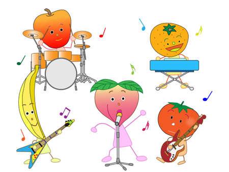 fairyland: Concert of the fruit Illustration