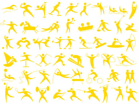 synchronized: Icon for the athlete Illustration