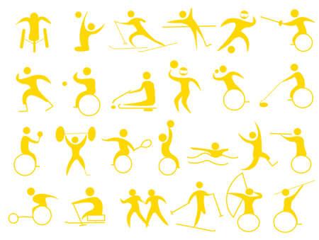 障害者選手のためのアイコン 写真素材 - 53424394