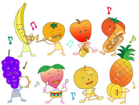 Concert of the fruit Illustration