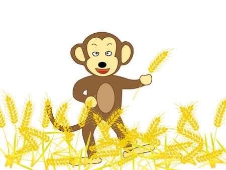 calamity: Monkey ravaging wheat fields