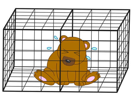 fruitful: Bears were captured in a cage