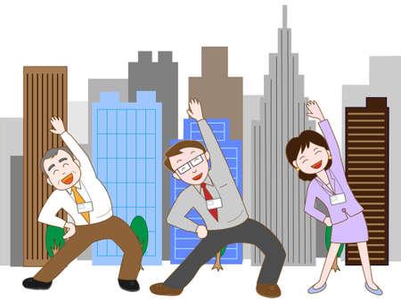teamwork: Corporate teamwork Illustration