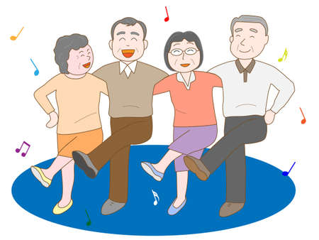 ageing: Exercise for the elderly Illustration