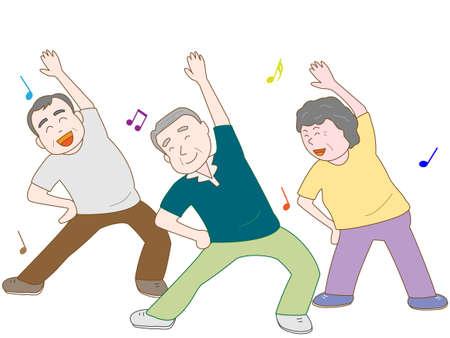 Exercise for the elderly Ilustração