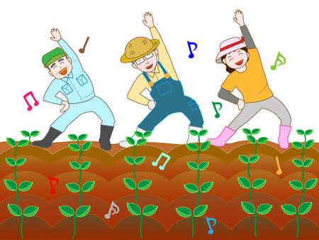 planted: Farmer celebrates germination
