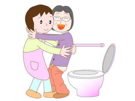 bowel movement: Caregiver jobs Illustration
