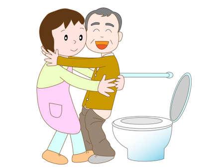 Caregiver jobs Stock Illustratie