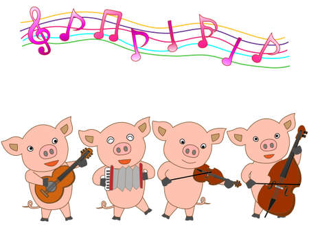 double bass: Concert for young pigs