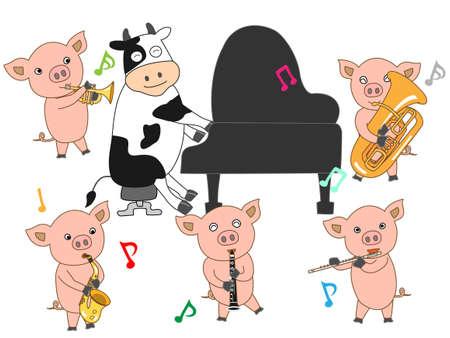 holstein cow: Livestock concert