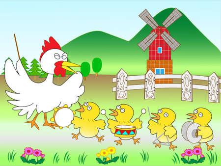 Cymbals: Chicken concert