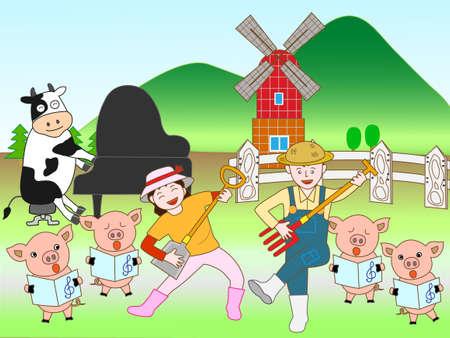 fairyland: Concert farm Illustration