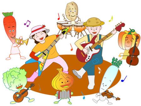 fruitful: Vegetable farmers concert Illustration