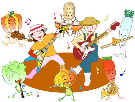 symphonic: Vegetable farmers concert Illustration