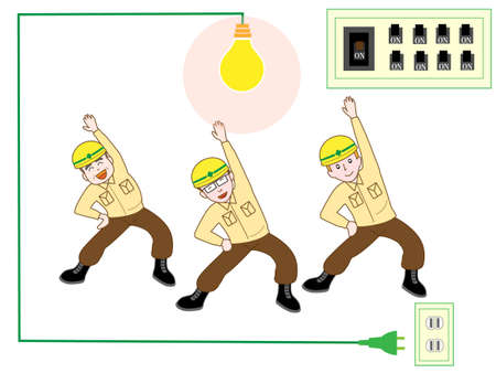 switchboard: Exercise in the electrical construction