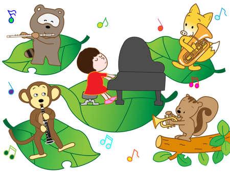 nursery tale: Animal concert